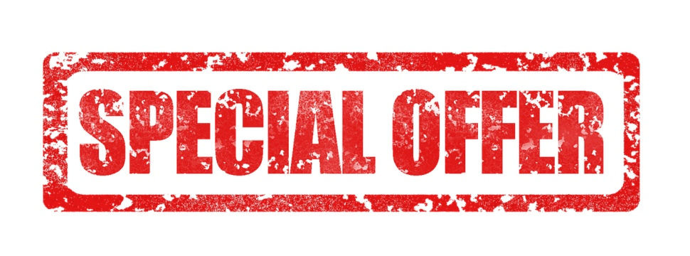 """News, sales, markets, inquiries, offers - Sign with """"Special Offer""""."""